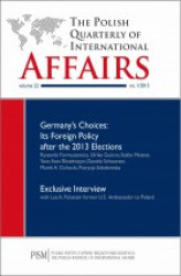 Okładka: The Polish Quarterly of International Affairs 2/2013