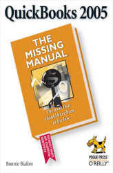 Okładka: QuickBooks 2005: The Missing Manual. The Missing Manual