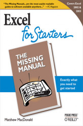 Okładka: Excel 2003 for Starters: The Missing Manual. The Missing Manual