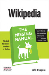 Okładka: Wikipedia: The Missing Manual. The Missing Manual