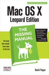 Okładka książki: Mac OS X Leopard: The Missing Manual