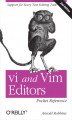 Okładka książki: vi and Vim Editors Pocket Reference. Support for every text editing task