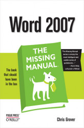Okładka: Word 2007: The Missing Manual. The Missing Manual