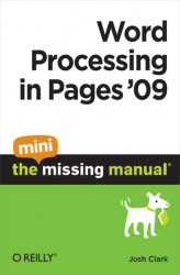 Okładka: Word Processing in Pages '09: The Mini Missing Manual