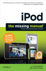 Okładka: iPod: The Missing Manual. The Missing Manual. 9th Edition