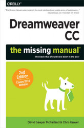Okładka książki: Dreamweaver CC: The Missing Manual. Covers 2014 release