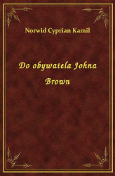 Okładka: Do obywatela Johna Brown