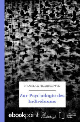 Okładka: Zur Psychologie des Individuums