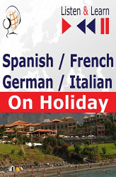 Okładka: Spanish, French, German, Italian on Holiday