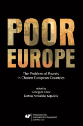 Okładka książki: Poor Europe. The Problem of Poverty in Chosen European Countries