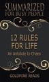Okładka książki: 12 Rules for Life - Summarized for Busy People