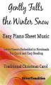 Okładka książki: Gently Falls the Winter Snow Easy Piano Sheet Music
